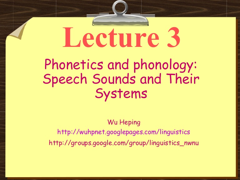 THEORIES OF PHONOLOGICAL ANALYSIS i
