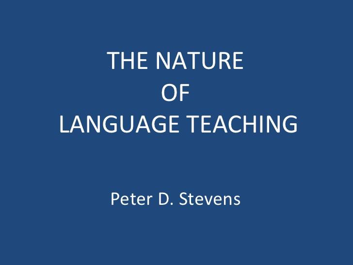 Study Nature of English Language Teaching