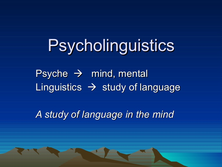 Proof That psycolinguistics Really Works