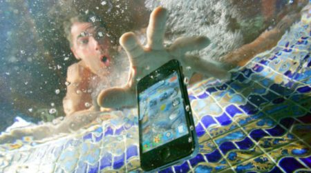 What happens if my cell phone speaker gets wet?