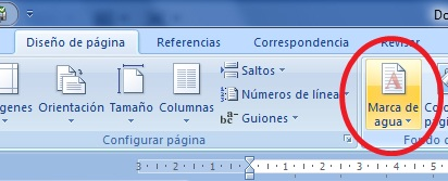 How to insert watermark in word 2007